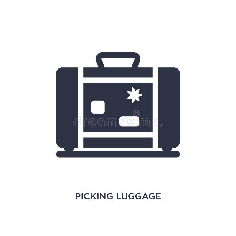 selezionamento dell'icona dei bagagli su fondo bianco Illustrazione semplice dell'elemento dal concetto del terminale di aeroport royalty illustrazione gratis