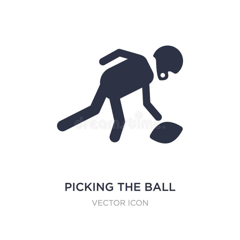 selezionamento dell'icona della palla su fondo bianco Illustrazione semplice dell'elemento dal concetto di football americano illustrazione di stock