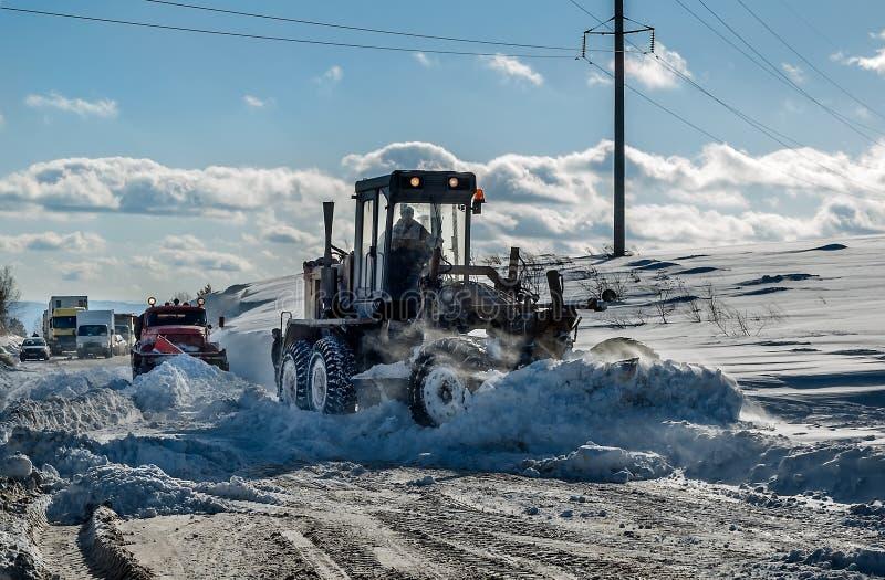 Selezionatore della neve fotografie stock