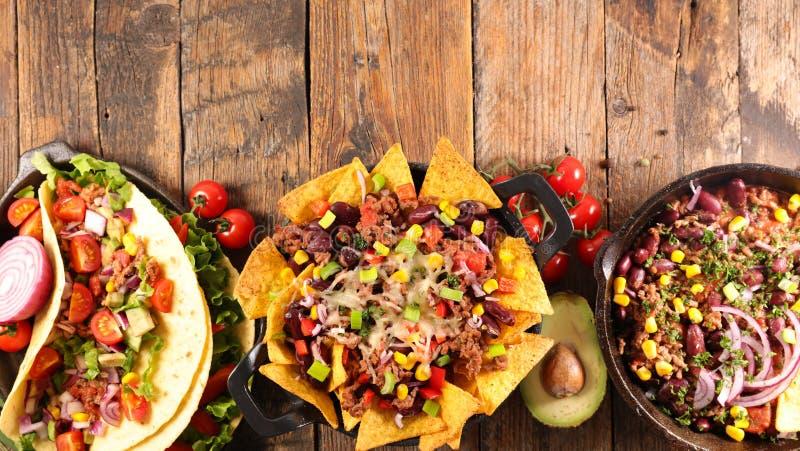 Selezione del pasto messicano fotografia stock libera da diritti