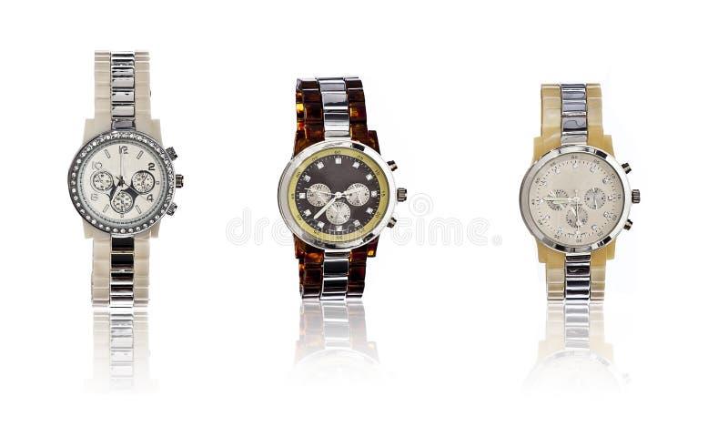 Selezione dell'orologio elegante degli uomini immagine stock