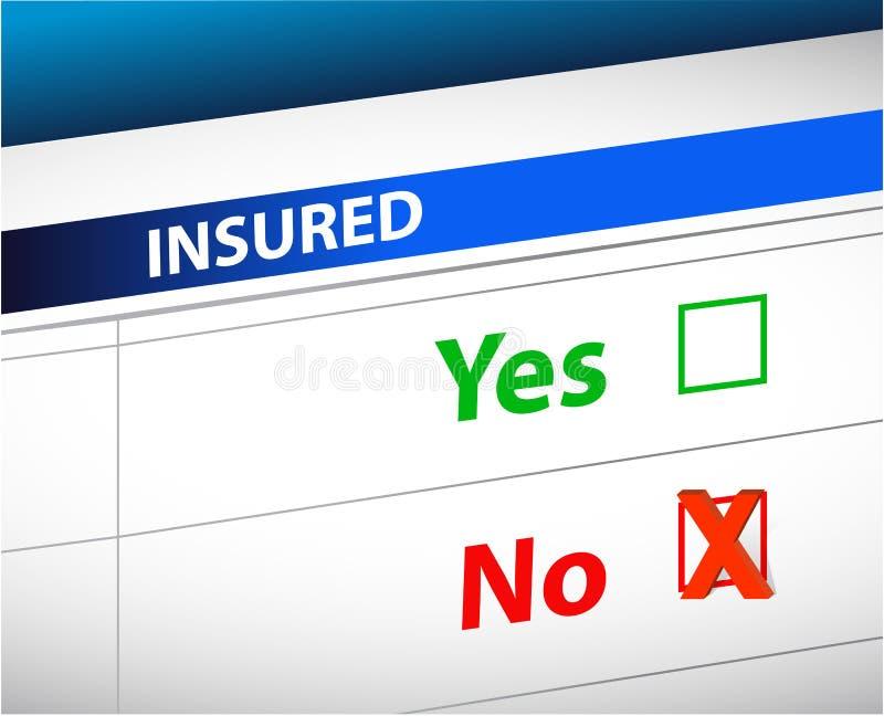 Selezione della lista di controllo di assicurazione più illustrazione vettoriale