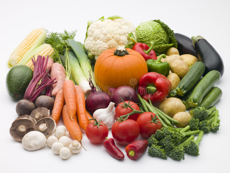 Selezione della verdura fresca fotografie stock