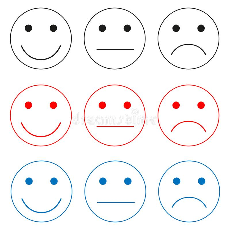 Selezione delle icone di emozioni illustrazione di stock