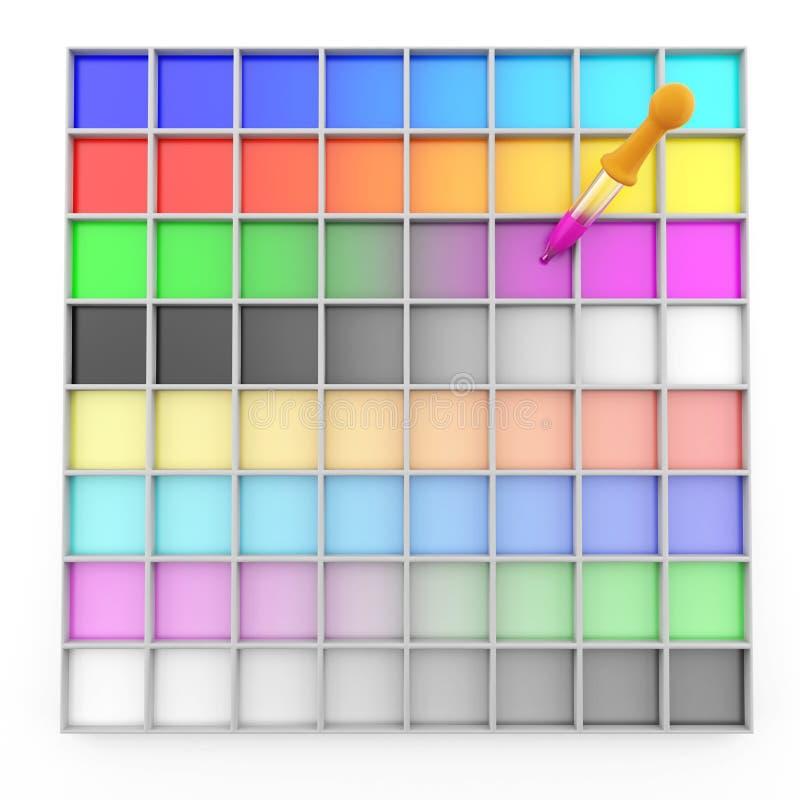 Selezione di colore illustrazione di stock