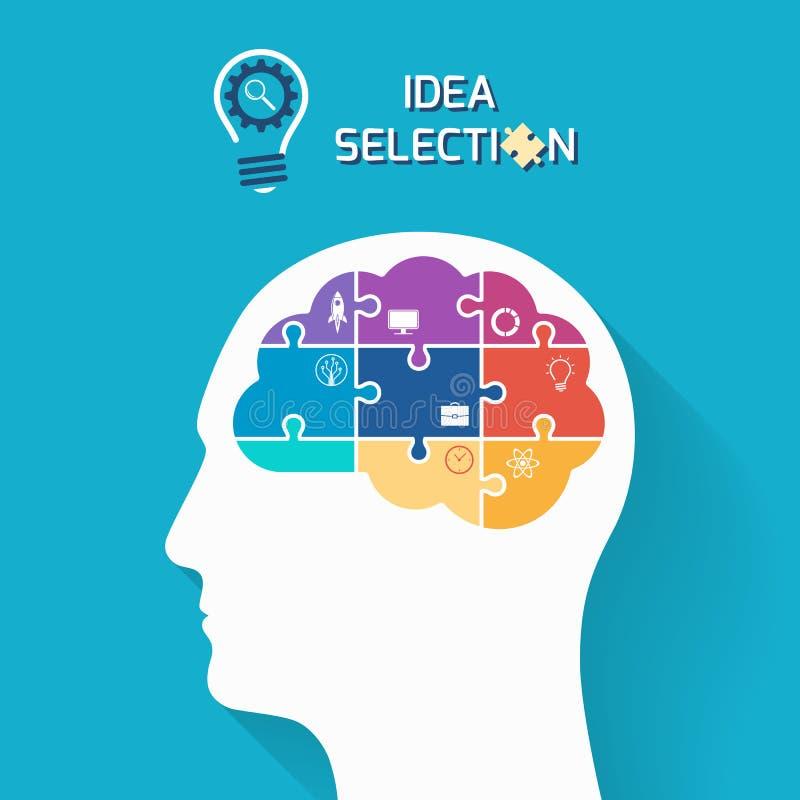Selezione di idea e concetto della giovane impresa illustrazione di stock