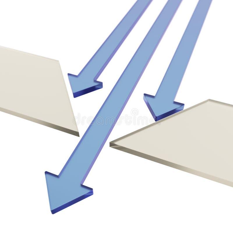 Selezione di migliore concetto delle frecce illustrazione vettoriale