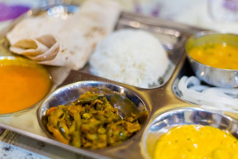 Selezione vegetariana indiana Bangkok dell'alimento fotografia stock libera da diritti