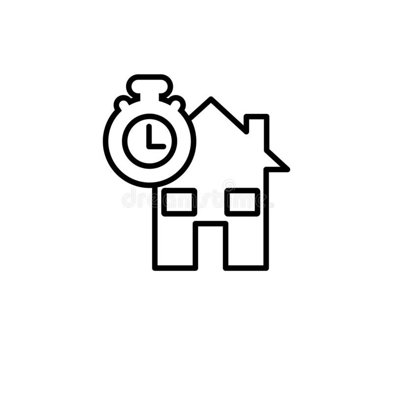 Self-certification mortgage icon. Trendy modern flat linear vect stock illustration