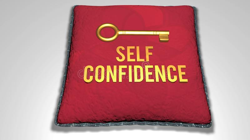 self confidence concept royalty free illustration