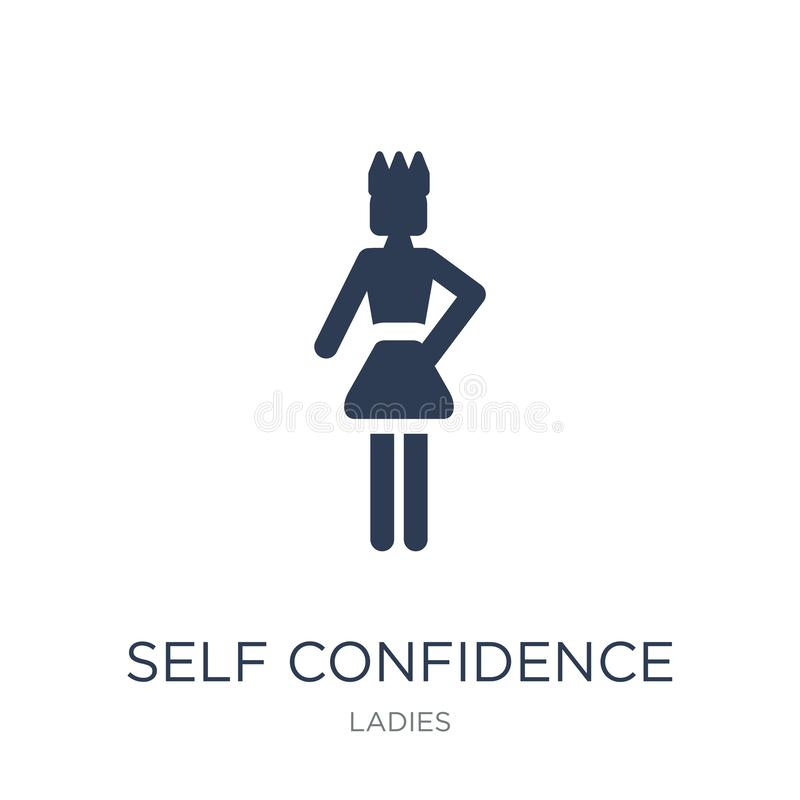 Self Confidence icon. Trendy flat vector Self Confidence icon on royalty free illustration