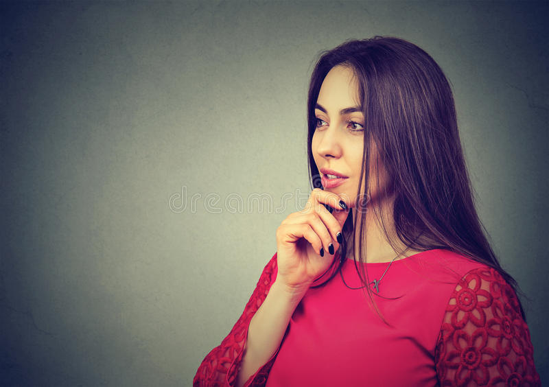 Self confident beautiful woman royalty free stock photography