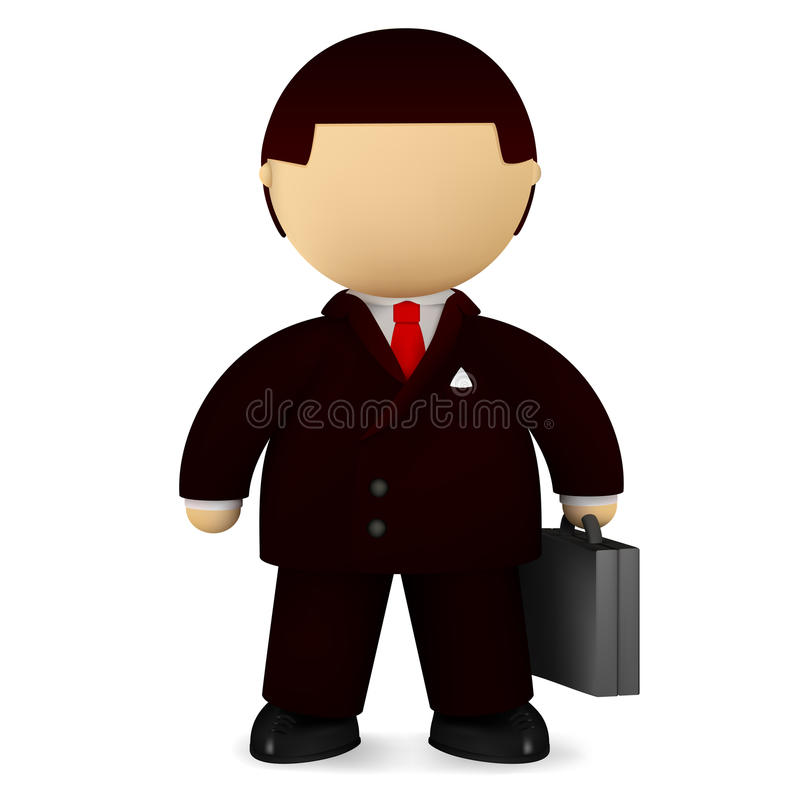 Download Self-confident businessman stock vector. Image of male - 14029697