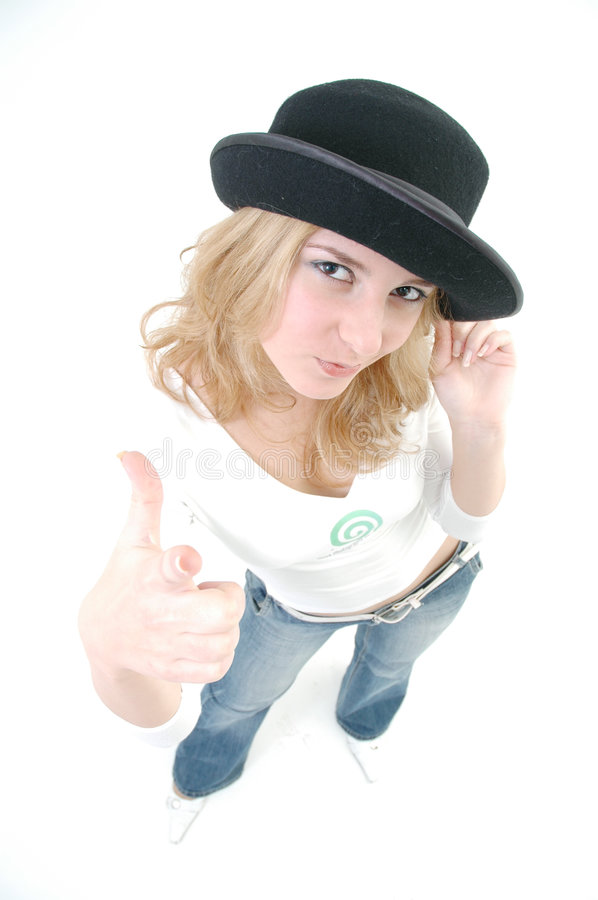 Self-confident girl stock images