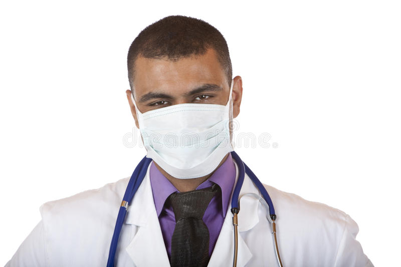 Self confident medical doctor with mask stock images