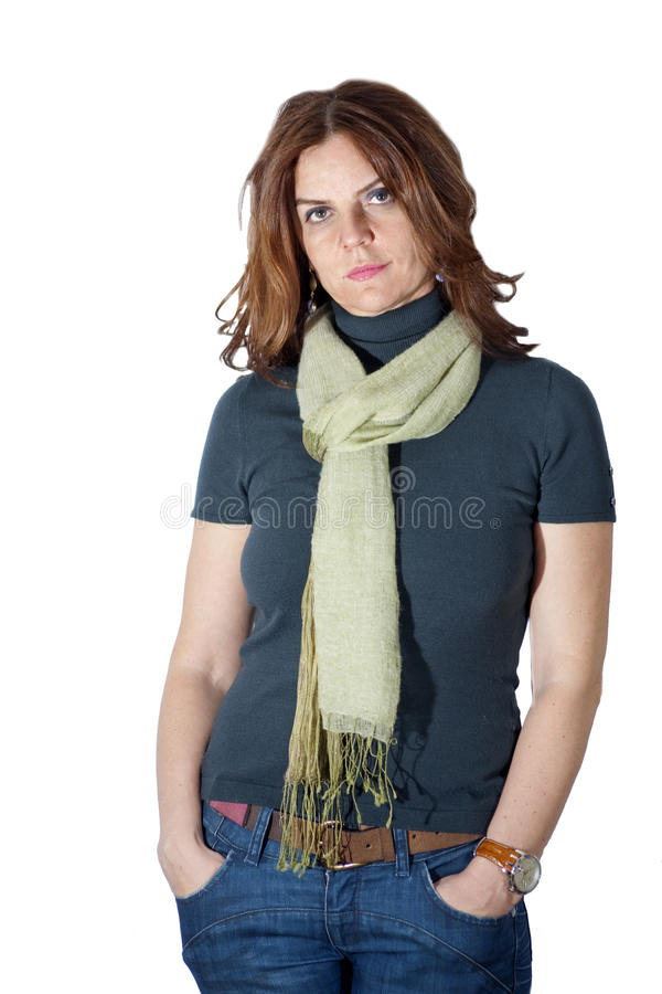 Self confident woman stock images