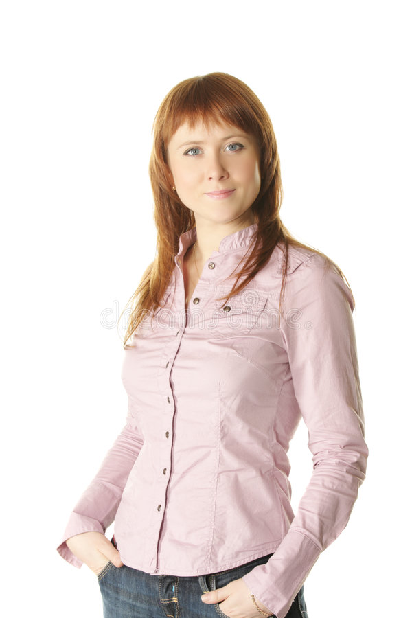 Self-confident woman royalty free stock photos