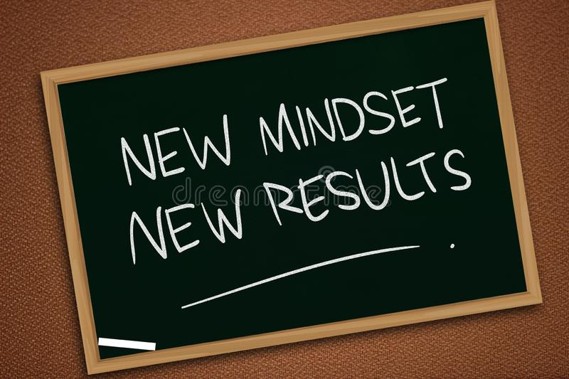 Self Development Motivational Words Quotes Concept, New Mindset Result. New mindset new results words letter, motivational self development business typography royalty free stock image