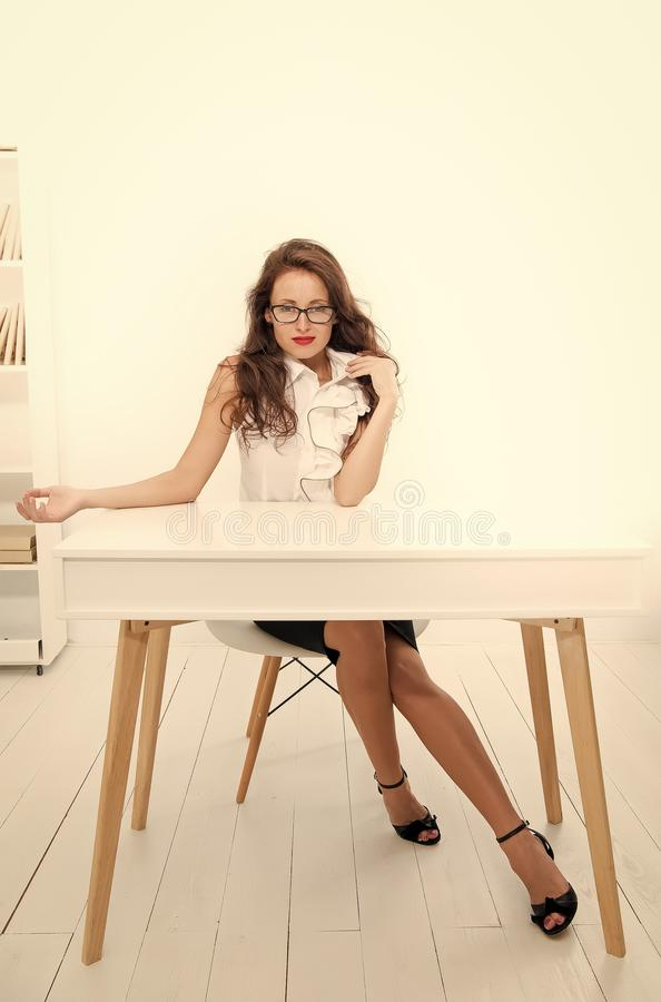Free Self Education Concept. Sexy Business Lady. Businesswoman In Office. Office Manager Or Secertary Career. Business Royalty Free Stock Photo - 167522295