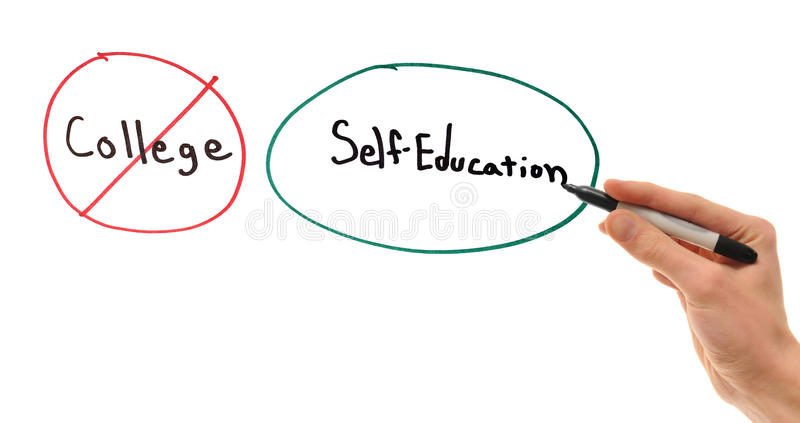 Self Education Over College Stock Photography