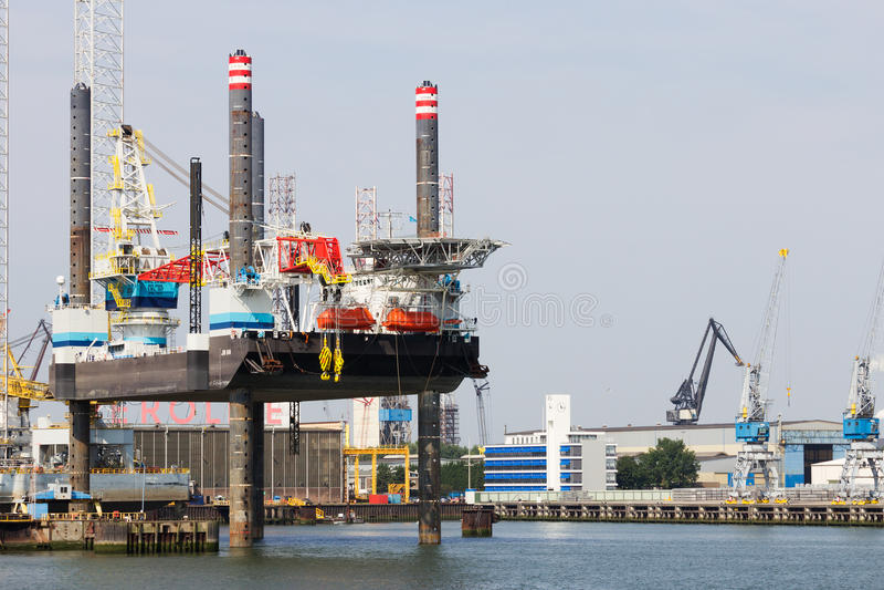 Self Elevating Platform rig stock image
