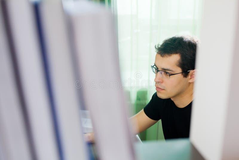 Self-employed man som hemma fungerar royaltyfria bilder