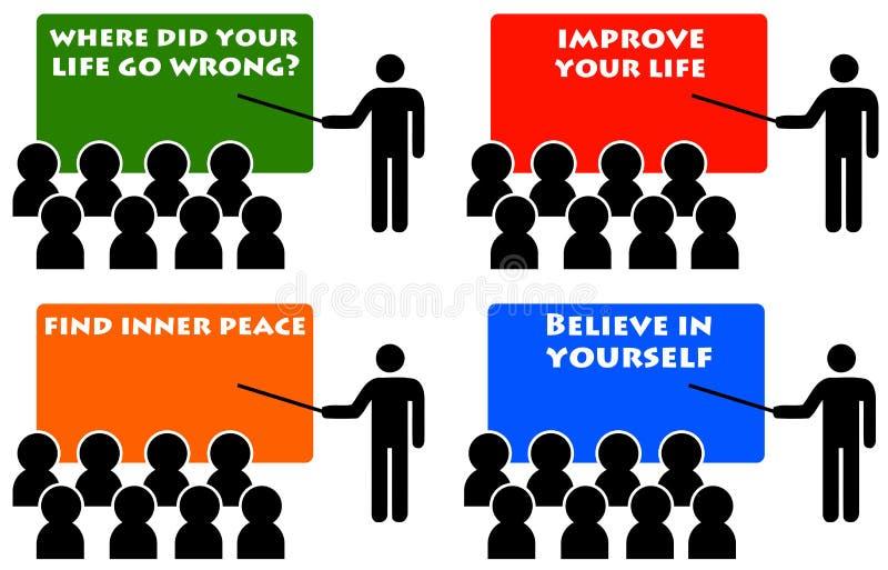 Download Self esteem stock illustration. Image of career, alternative - 34372054