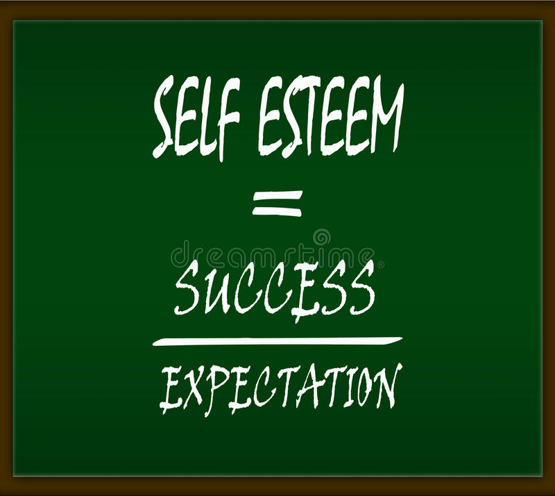 Self esteem stock illustration