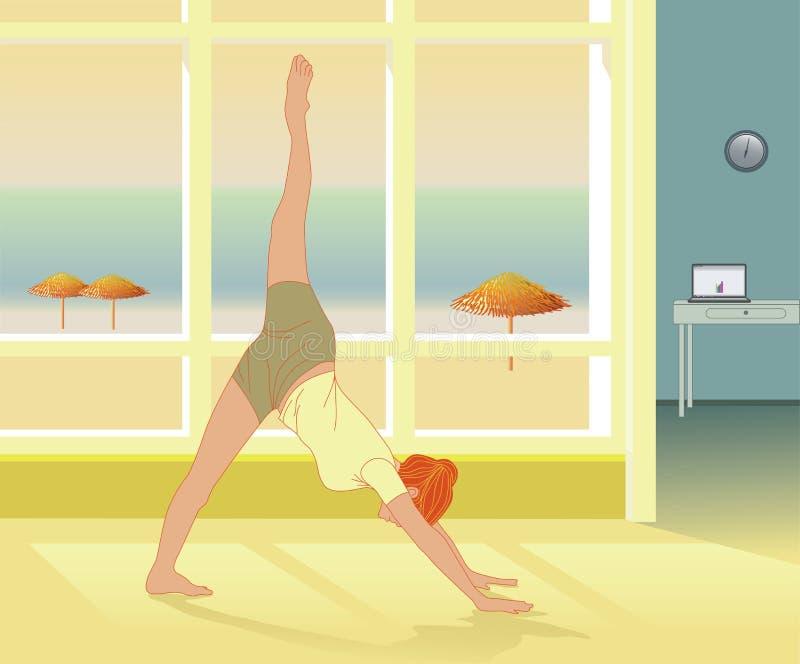 Self-healing praktijk en Reiki van de yoga stock illustratie