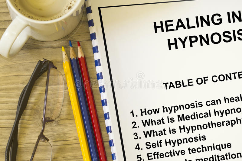 Self hypnosis. Concept- include hypnotherapy hypnosis and stock image
