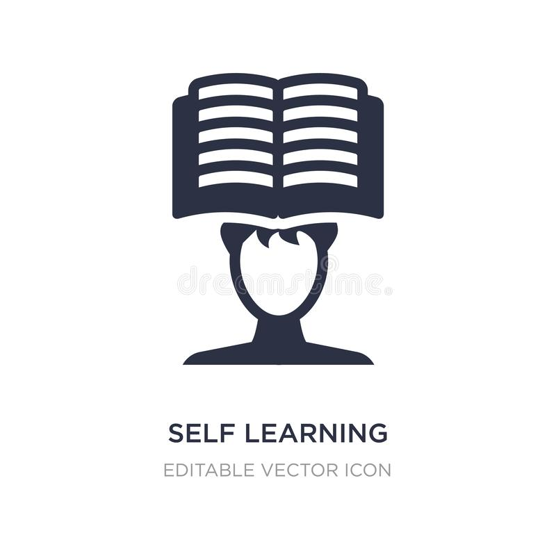 self learning icon on white background. Simple element illustration from Other concept stock illustration