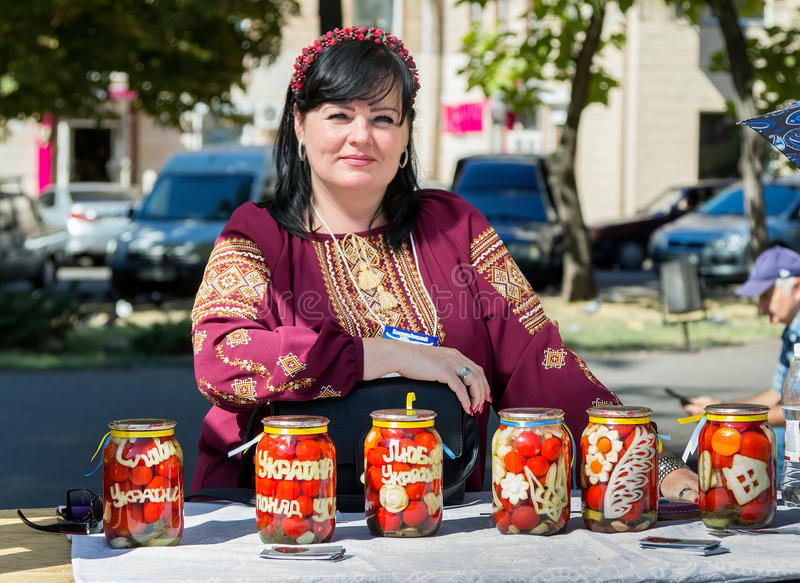 Self-made canned tomatoes stock photography
