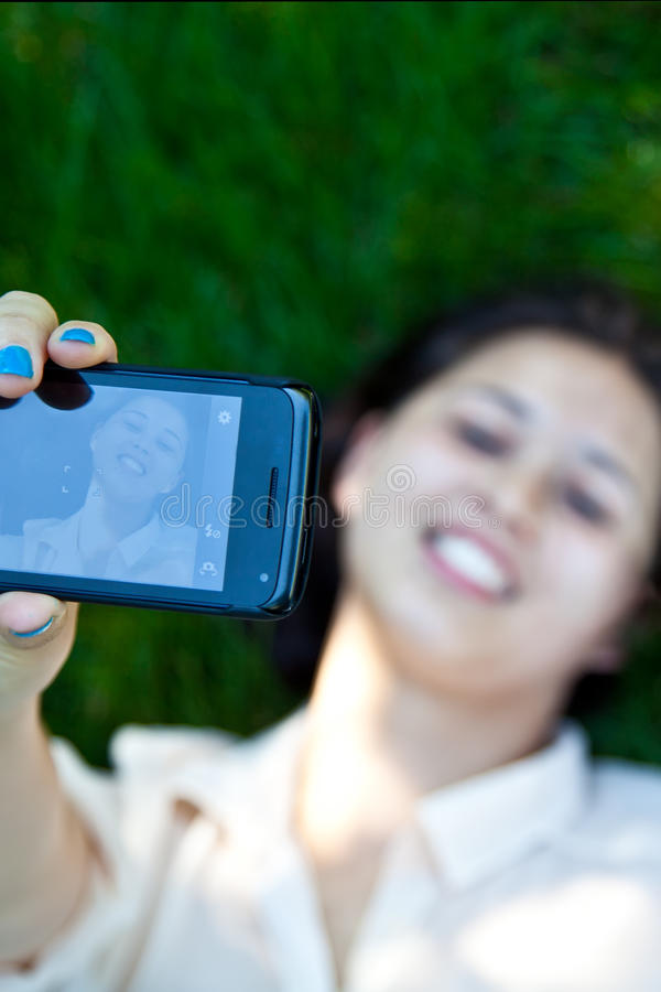 Download Self Portrait stock image. Image of female, cellphone - 28157883