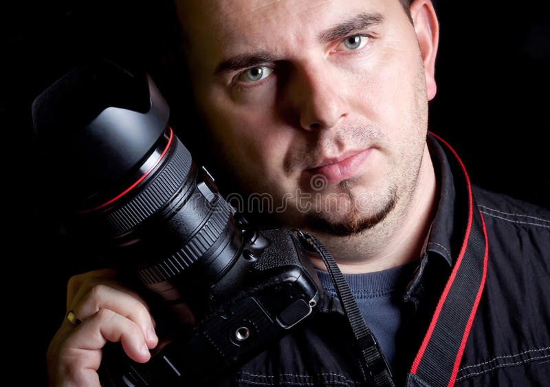 Download Self Portrait Of The Photographer With DSLR Camera Royalty Free Stock Images - Image: 27196519