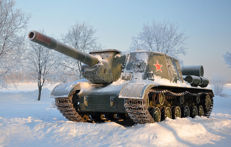 Download Self-propelled Artillery Unit. After A Snowfall. Stock Photo - Image: 18036362