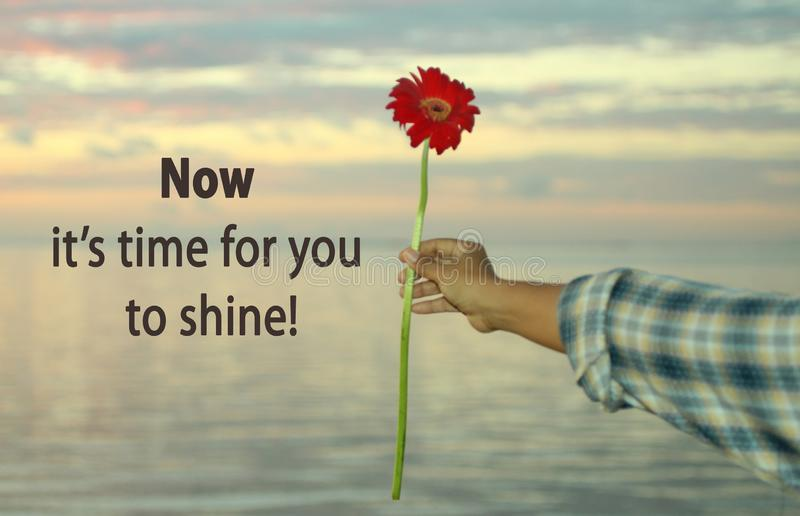 Self reminder. Self notes - Now it is time for you to shine. royalty free stock photos