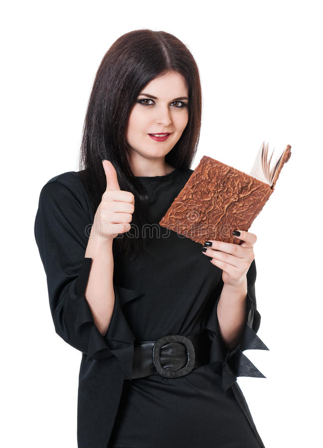 Self-satisfied witch stock photography