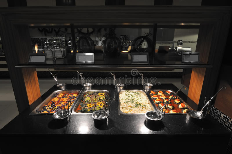 Self Service Buffet. Luxury restaurant buffets. Food and Service occupation stock photos
