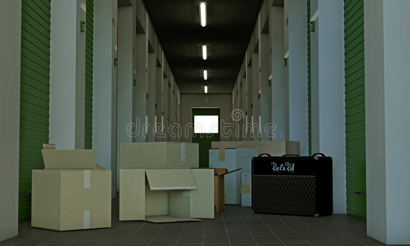 Download Self storage stock illustration. Illustration of industrial - 36750888