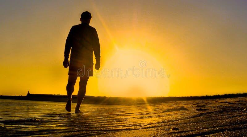 Mindfulness Sunset Walk royalty free stock photos