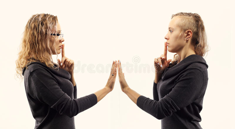 Girl Talking To Herself
