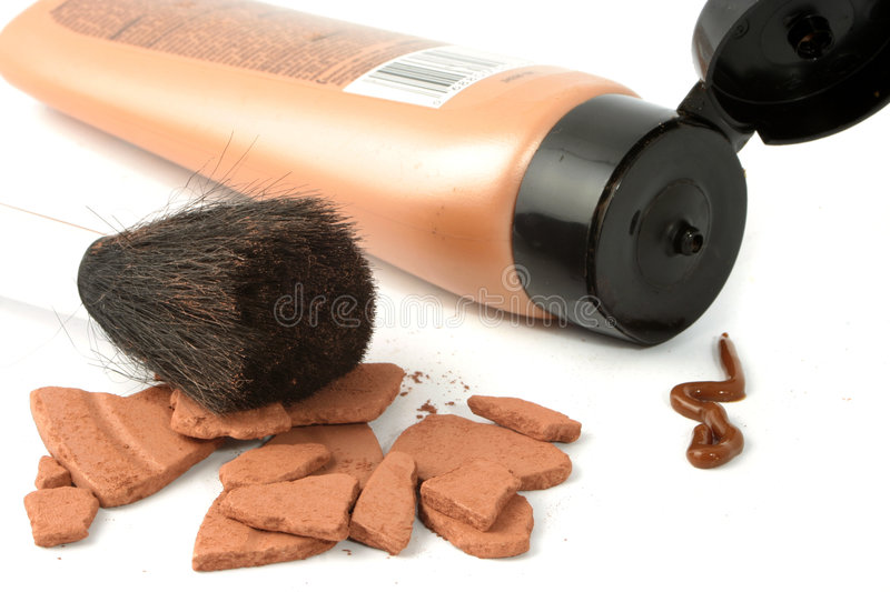 Self tanning bronzers royalty free stock photography