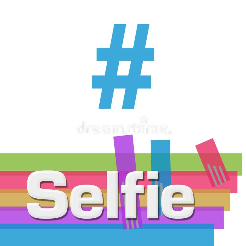 Selfie抽象五颜六色的条纹正方形 皇族释放例证