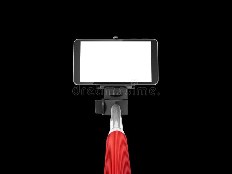 Selfie棍子monopod 皇族释放例证