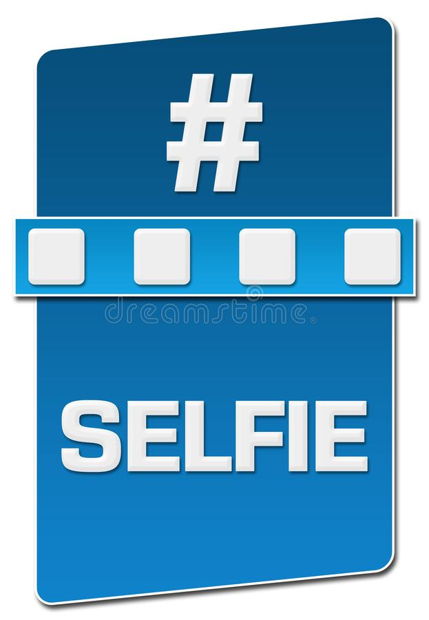 Selfie蓝色分离器垂直 向量例证