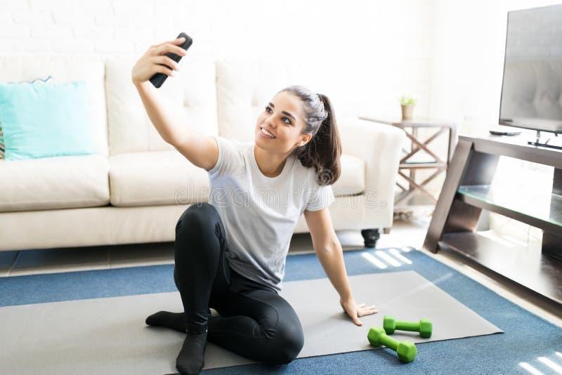 Selfie μετά από το workout στοκ εικόνα