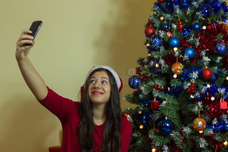 Selfie στα Χριστούγεννα στοκ φωτογραφίες