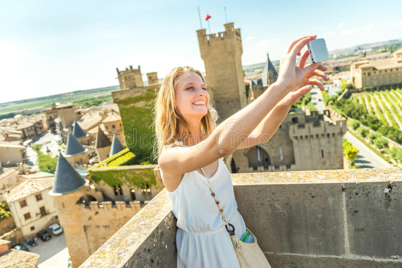 Selfie στο κάστρο στοκ εικόνα με δικαίωμα ελεύθερης χρήσης