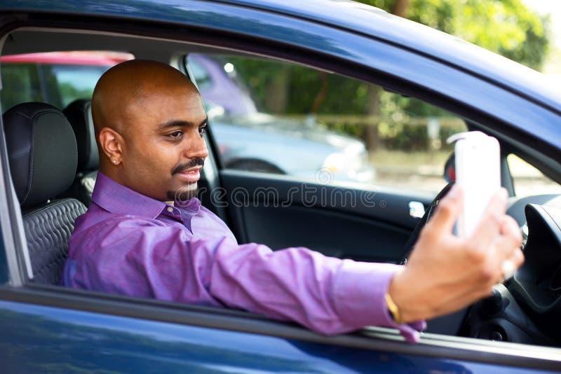 Selfie автомобиля стоковое фото