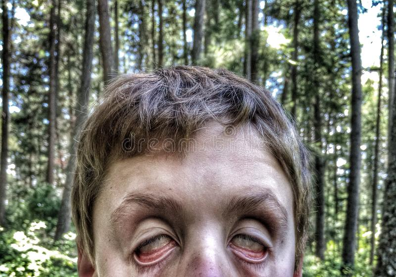 Selfie зомби стоковое фото rf